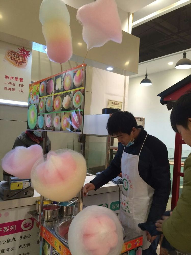 超市里的花式棉花糖机